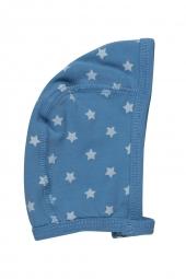 Pippi Baby Mütze aus Bio-Baumwolle, blau