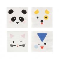My Little Day Papierservietten, Mini Animals - 20 Stk.