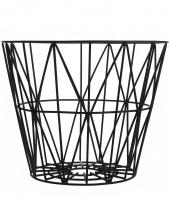 Ferm Living Wire Basket - Schwarz, mittel