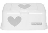 FunkyBox Feuchttücher Box, White Silver Heart
