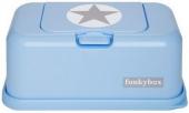 FunkyBox Fuechttücher Box, Baby Blue Silver Star