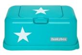 FunkyBox Feuchttücher Box, Aqua White Star