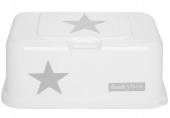 FunkyBox Feuchttücher Box, White Silver Stars