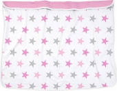 Dooky Kinderwagen-Decke, Pink Stars
