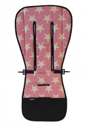 AddBaby Kinderwagen-Sitzkissen, Star Pink