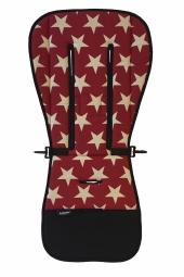 AddBaby Kinderwagen-Sitzkissen, Star Red