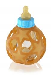 Hevea Babyflasche aus Glas, Blue