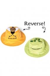Flapjackkids wendbarer Sonnenhut mit UV-Schutz - Biene/ Raupe *neu*