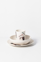 Ferm Living Bamboo Kinder-Geschirrset, Party