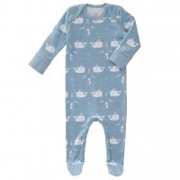 Fresk Babypyjama Bio-Baumwolle, mit Füsschen, Wal