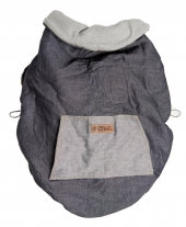 BYKAY Universelles Cover, dark jeans/ grey melee
