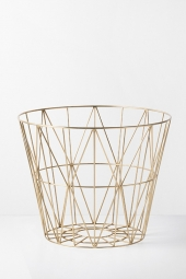 Ferm Living Wire Basket, Brass, gross *neu*