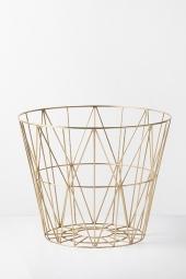Ferm Living Wire Basket, Brass, gross