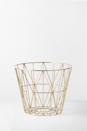 Ferm Living Wire Basket, Brass, small