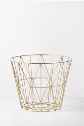 Ferm Living Wire Basket, Brass, mittel