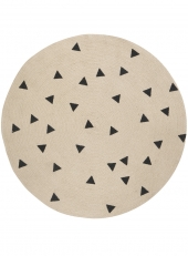 Ferm Living Teppich aus Jute, Dreiecke, klein