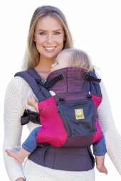 Lillebaby Babytrage, 360° 6-Positionen, Airflow Charcoal Berry