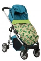 BundleBean Go! Kinderwagendecke/ Babytragedecke, Gecko