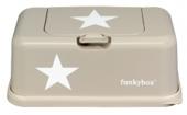 FunkyBox Feuchttücher Box, Beige White Stars