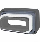 Sebra Cube Regale, 4er Set, Oval, Matte, Grau