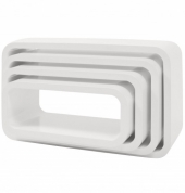 Sebra Cube Regale, 4er Set, Oval, Matte, Weiss