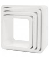 Sebra Cube Regale, 4er Set, Quadratisch, Matte, Weiss