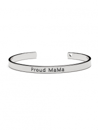 Proud MaMa Bangle Bracelet, Silber