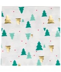 My Little Day Papierservietten, Christmas Trees - 16 Stk.