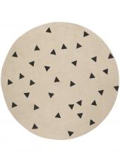 Ferm Living Teppich aus Jute, Dreiecke, gross