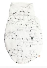 Ergobaby Swaddler Pucksack, S/M, Sheep