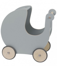 Sebra Puppenwagen aus Holz, Grau