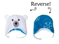 flapjackkids wendbare Wintermütze Eisbär/ Schneeflocke