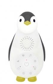 ZAZU Pinguin Musikbox mit Nachtlicht, Grau