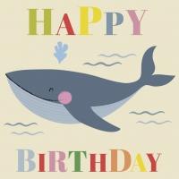 Geburtstagskarte Blue Whale