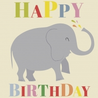 Geburtstagskarte Elephant