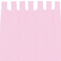 Sugarapple Vorhang 2er Pack, Rosa / Sterne Weiss