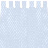 Sugarapple Vorhang 2er Pack, Hellblau / Sterne Weiss