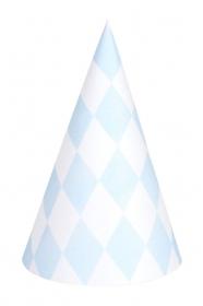 My Little Day Spitzhut - Light Blue Diamonds, 8 Stk.