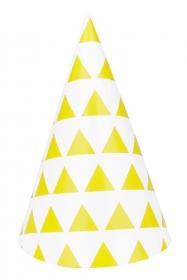 My Little Day Spitzhut - Yellow Triangles, 8 Stk.