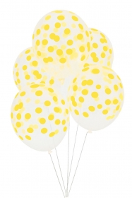 My Little Day Luftballone aus Latex, 5 Stk. - Confetti Yellow