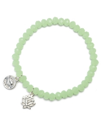 Proud MaMa Armband, Charm, Lotus Mint