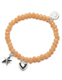 Proud MaMa Armband, Stern / Herz Orange