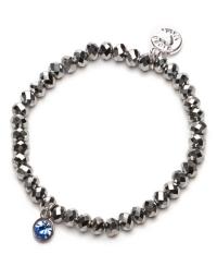 Proud MaMa Armband, Charm, Silber Blau