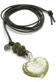 Proud MaMa Halskette, Murano Herz, Grün