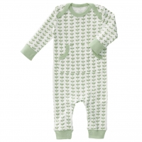 Fresk Babypyjama Bio-Baumwolle, Leaves Grün