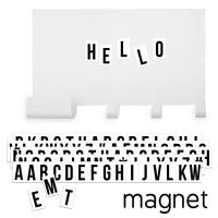 Tresxics magnetische Wandtafel mit Haken und 60 schwarzen Buchstaben