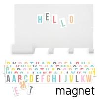 Tresxics magnetische Wandtafel mit Haken und 60 farbigen Buchstaben
