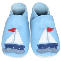 Dolcino Lederfinken, Segelboot Blau